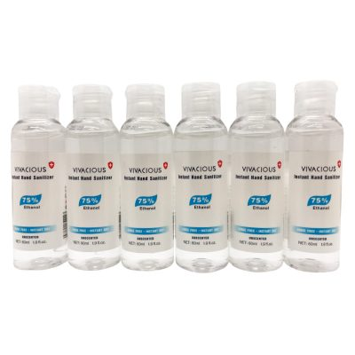 Hand Sanitizer 6 Bottles 2oz